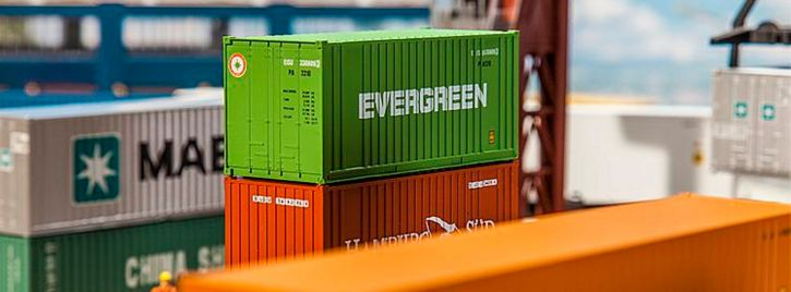 FALLER 180821 20 ft Container EVERGREEN | Spur H0