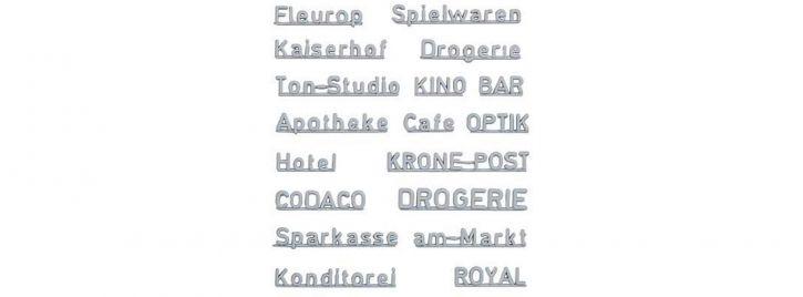 FALLER 180964 Ladenschriftzüge 70er Jahre 18 Stück Fertigmodell 1:87