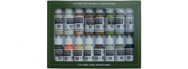 FALLER 770141 VALLEJO Farbset Erdtöne 16x17 ml