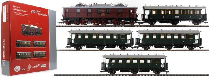 ausverkauft | FLEISCHMANN 391771 Zugset E-Lok BR EP 5 + Reisezug DRG | AC-Sound | Spur H0