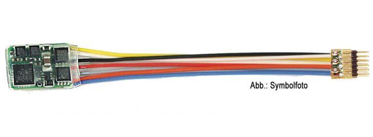 FLEISCHMANN 685404 DCC-Decoder 6-pol. mit Stecker | NEM 651 | Spur H0e, TT, N
