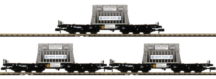 FLEISCHMANN 845512 3-tlg. Set Schwerlastwagen Samms DB | Spur N