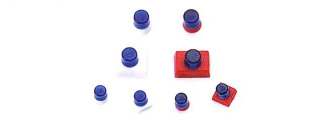 herpa 050142 Hella-Warnleuchten blau | 8 Stück | 1:87