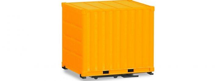 herpa 053594-002 Container mit Grundplatte 10ft gelb 2 Stück Ladegut LKW 1:87