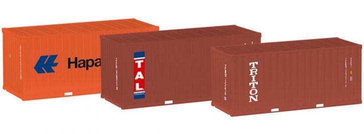 herpa 076432-003 20 ft Container Hapag Lloyd TAL Triton 3 Stück | Zubehör 1:87