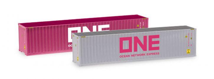 herpa 076449-005 Container-Set 2x40ft.ONE/ONE Zubehör 1:87