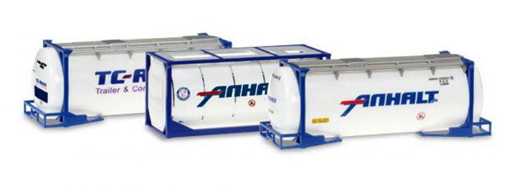 herpa 076500-004 Tankcontainer Set 3 Stück Zubehör 1:87