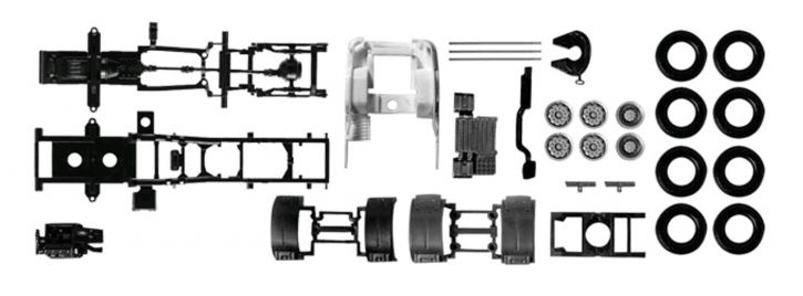 herpa 082433 Fahrgestell 3-achs Zugmaschine Scania R | Ersatzteilset 1:87