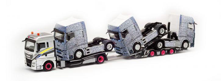 herpa 311984 MAN TGX XLX Euro 6c Transporter-Hängerzug | LKW Modell 1:87