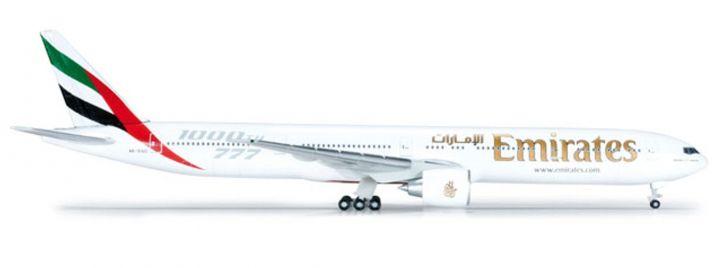 "herpa 523486 B777-300ER Emirates ""1000th 777"" Flugzeugmodell 1:500"
