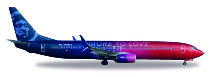 herpa WINGS 530637 Boeing B737-900 Alaska Airlines Virgin USA merger livery Flugzeugmodell 1:500