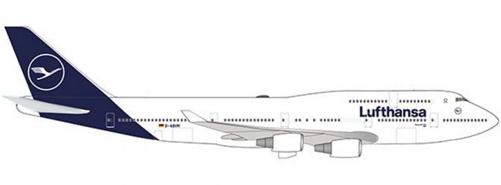 herpa 532761 Lufthansa Boeing 747-400 new colors | WINGS 1:500