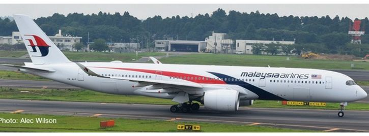herpa 532990 Malaysia Airlines Airbus A350-900   WINGS 1:500