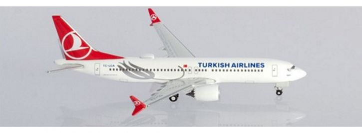 herpa 533768 Boeing 737 MAX8 Turkish Airlines Tokat Flugzeugmodell 1:500