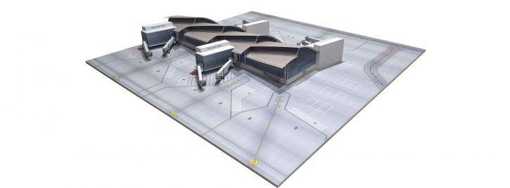 herpa 533850 Los Angeles Flughafen North Concourse Tom Bradley International Terminal Bausatz 1:500