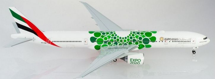herpa 570664 Emirates Boeing 777-300ER - A6-ENB - Expo 2020 Dubai Sustainability   Flugzeugmodell