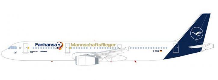 ausverkauft | herpa 612104 Airbus A321 Lufthansa Fanhansa Mannschaftsflieger 2018 Steckbausatz 1:200