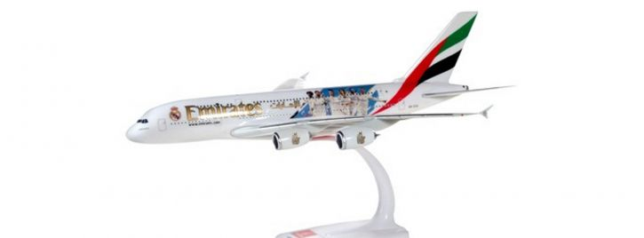 herpa 612142 Airbus A380 Emirates Real Madrid 2018 Steckbausatz 1:250