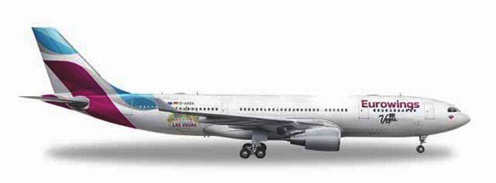 herpa 531436 Airbus A330-200 Eurowings Las Vegas Flugzeugmodell 1:500