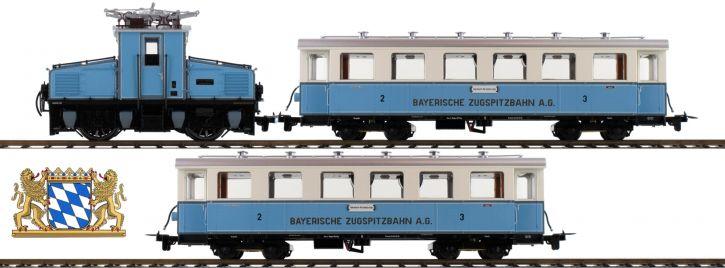 HOBYBTRAIN H43100 Zugpackung Tal-Lok mit 2 Wagen Zugspitzbahn   DC analog   Spur H0m