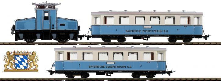 HOBBYTRAIN H43102 Zugpackung Tal-Lok mit 2 Wagen Zugspitzbahn | DC analog | Spur H0e