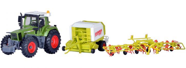 kibri 12233 FENDT Traktor mit Anbaugetäten | Bausatz Spur H0