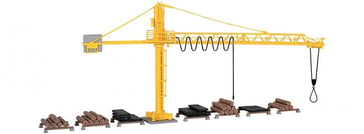 kibri 39817 Kran mit Schwellenstapel Bausatz Spur H0