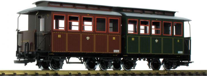 LGB 35097 Doppel-Personenwagen 2./3.Kl. k.sä.St.E. | Spur G