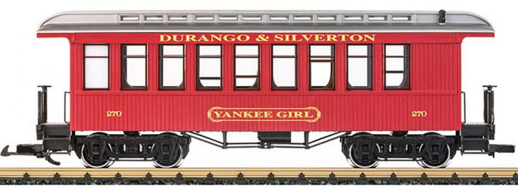 LGB 36808 Oldtimer-Personenwagen Yankee Girl D&S RR | Spur G