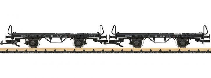 ausverkauft | LGB 41038 Flachwagen-Set 2-tlg. Hw MB Schönheide | Spur G