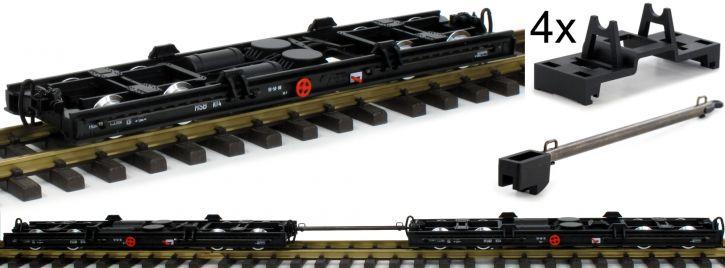 ausverkauft | LGB 49181 Rollwagen-Set 2-tlg. HSB | Spur G