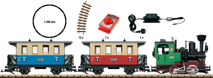 LGB 70307 Startset Personenzug | Sound + Dampf | Spur G