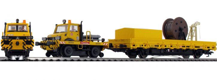 märklin 39940 Zweiwege-Unimog mit Fahrleitungsbauwagen DB AG | mfx+ Sound | Spur H0