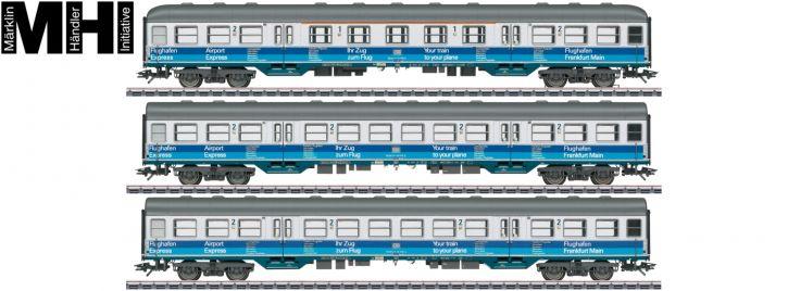 märklin 43815 Personenwagenset   Airport Express Frankfurt   DB   MHI   Spur H0