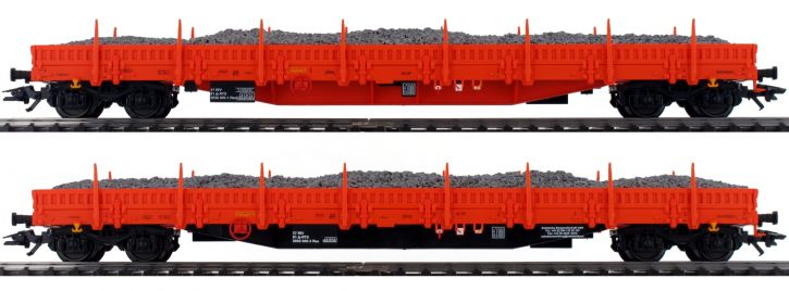 märklin 47099 Niederbordwagen-Set Schottertransport Res RTS   Spur H0