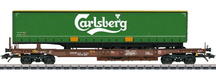 märklin 47112 Taschenwagen Sdgmns 33 Carlsberg AAE Cargo | Spur H0