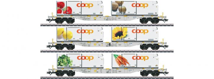 märklin 47461 Containerwagen-Set 3-tlg. Coop AAE Cargo | Spur H0
