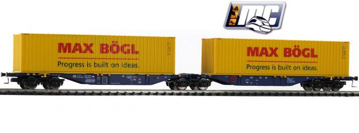 MEHANO 58958 Containertragwagen Sggmrss 90 Max Bögl ERR | DC | Spur H0