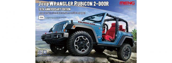 MENG 911767 Jeep Wrangler Rubicon   Auto Bausatz 1:24