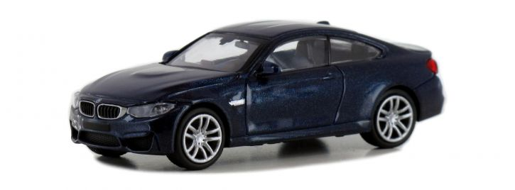 MINICHAMPS 870027201 BMW M4 Coupe F82 2015 dunkelblau-metallic Automodell Spur H0