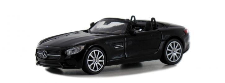 MINICHAMPS 870037131 Mercedes-AMG GT Roadster 2015 schwarz Automodell Spur H0