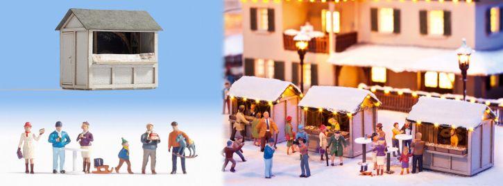 NOCH 12026 Auf dem Weihnachstmarkt Fertigmodell Spur H0