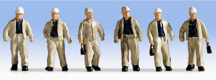 NOCH 15042 Bergarbeiter   6 Miniaturfiguren   Spur H0