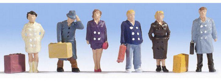 NOCH 15219 Reisende | 6 Miniaturfiguren | Spur H0