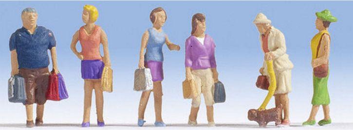 NOCH 15518 Beim Einkaufen | 6 Miniaturfiguren | Spur H0
