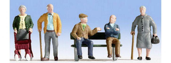 NOCH 15551 Senioren Miniaturfiguren | 5 Stück | Spur H0