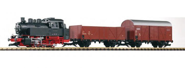 PIKO 37120 Start-Set Güterzug BR 80 DB Spur G