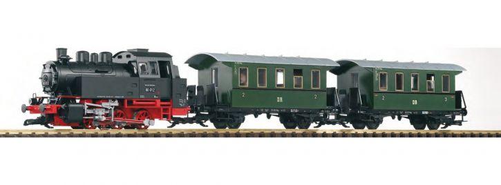 PIKO 37125 Start-Set Personenzug mit Dampflok BR 80 DB Spur G