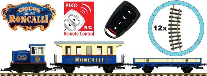 PIKO 37154 Start-Set Güterzug Roncalli R/C | Batteriebetrieb | Spur G