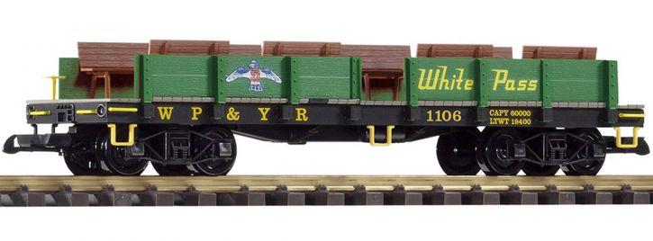 PIKO 38753 Aussichtswagen WP&YR mit Bänken Spur G   Spur G